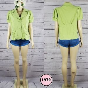 niotto small apple green blouse